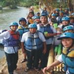 Rafting dan outbound training pupuk kaltim