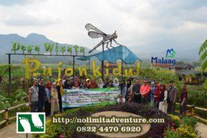 Wisata Outbound di Cafe Sawah Pujon Kidul - http://www.nolimitadventure.com